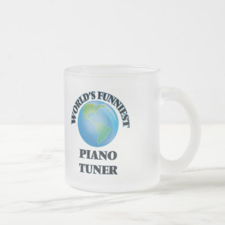 World's Funniest Piano Tuner Frosted Glass Mug