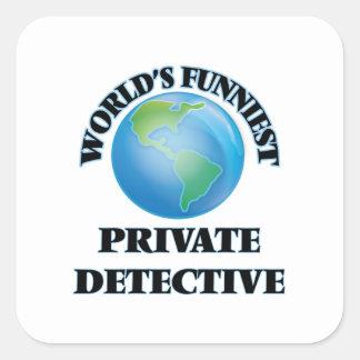 World's Funniest Private Detective Square Stickers