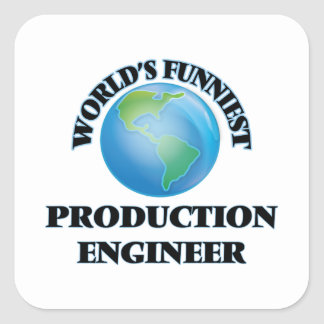 World's Funniest Production Engineer Square Sticker