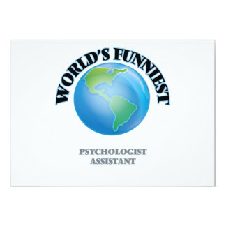 "World's Funniest Psychologist Assistant 5"" X 7"" Invitation Card"