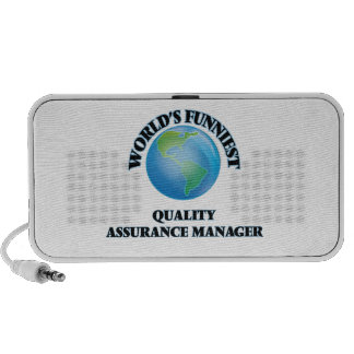 World's Funniest Quality Assurance Manager Mini Speaker