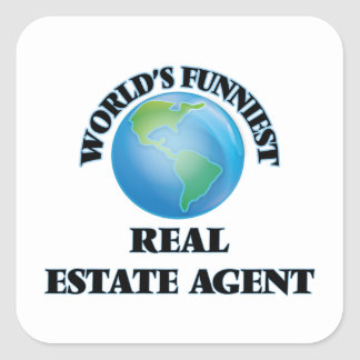 World's Funniest Real Estate Agent Square Sticker