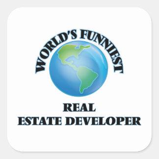 World's Funniest Real Estate Developer Square Stickers