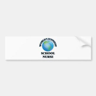 World's Funniest School Nurse Bumper Sticker
