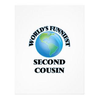 World's Funniest Second Cousin 21.5 Cm X 28 Cm Flyer