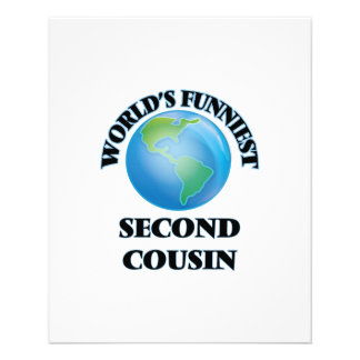 World's Funniest Second Cousin 11.5 Cm X 14 Cm Flyer