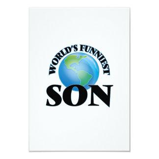 World's Funniest Son 9 Cm X 13 Cm Invitation Card