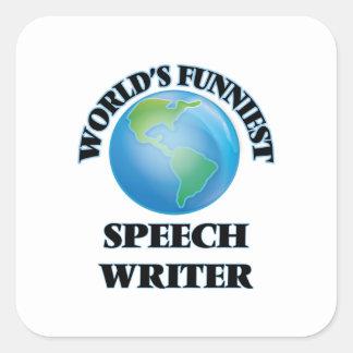 World's Funniest Speech Writer Square Stickers