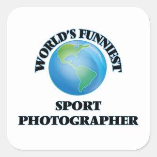 World's Funniest Sport Photographer Square Sticker