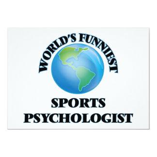 World's Funniest Sports Psychologist 5x7 Paper Invitation Card