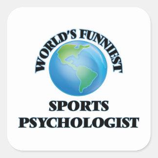 World's Funniest Sports Psychologist Square Sticker