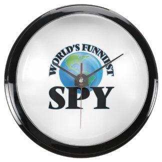 World's Funniest Spy Fish Tank Clocks
