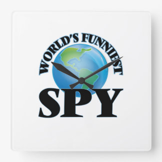 World's Funniest Spy Square Wall Clocks