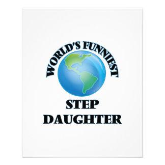 World's Funniest Step-Daughter 11.5 Cm X 14 Cm Flyer