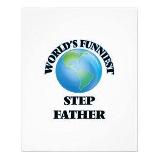 World's Funniest Step-Father 11.5 Cm X 14 Cm Flyer