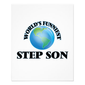 World's Funniest Step-Son 11.5 Cm X 14 Cm Flyer