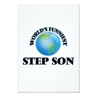 World's Funniest Step-Son 9 Cm X 13 Cm Invitation Card