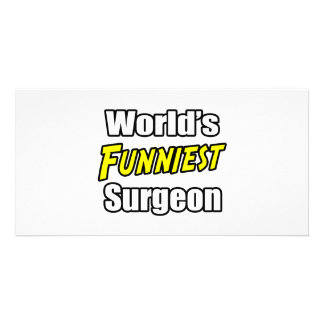World's Funniest Surgeon Personalized Photo Card