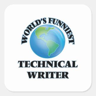 World's Funniest Technical Writer Square Sticker