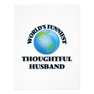 World's Funniest Thoughtful Husband 21.5 Cm X 28 Cm Flyer