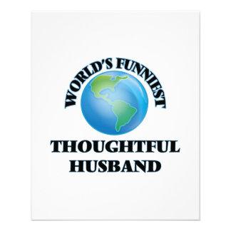 World's Funniest Thoughtful Husband 11.5 Cm X 14 Cm Flyer
