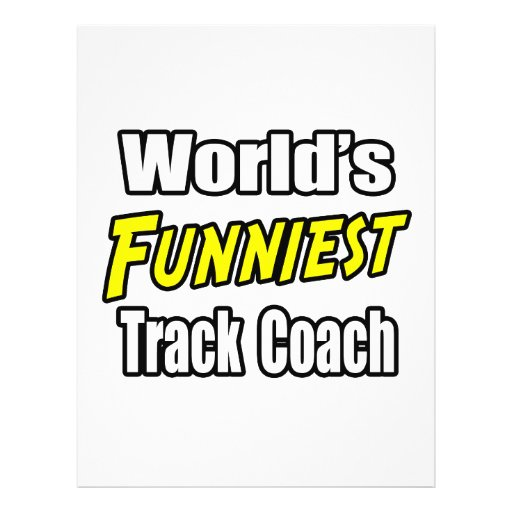 World's Funniest Track Coach Personalized Flyer