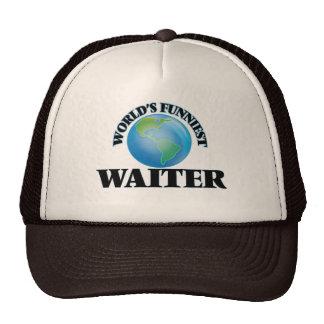 World's Funniest Waiter Mesh Hats