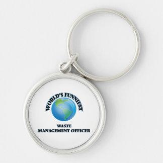 World's Funniest Waste Management Officer Keychains