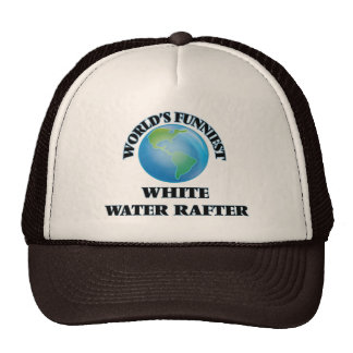 World's Funniest White Water Rafter Mesh Hats