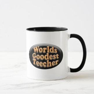 Worlds Goodest Teecher Funny Teacher Gift Mug