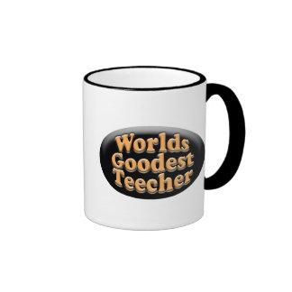 Worlds Goodest Teecher Funny Teacher Gift Ringer Mug