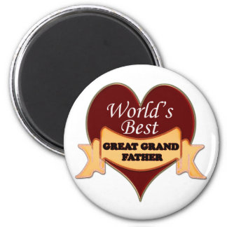 World's Great Grandfather 6 Cm Round Magnet