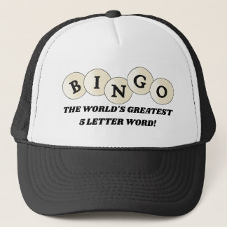 World's greatest 5 letter word Bingo gambling hat