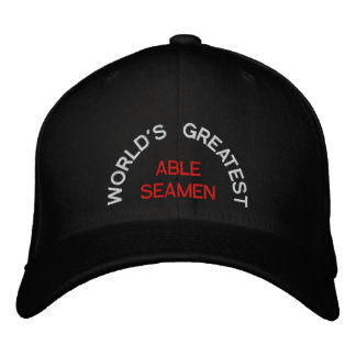 WORLD'S GREATEST, ABLE SEAMEN EMBROIDERED HATS