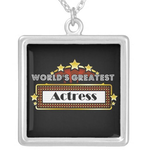 World's Greatest Actress Necklaces