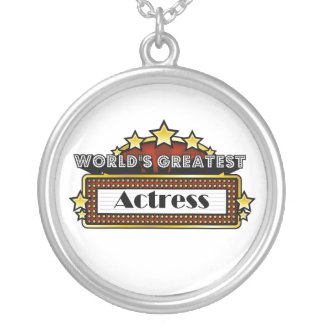 World's Greatest Actress Silver Plated Necklace