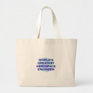 WORLD'S GREATEST AEROSPACE ENGINEER CANVAS BAG