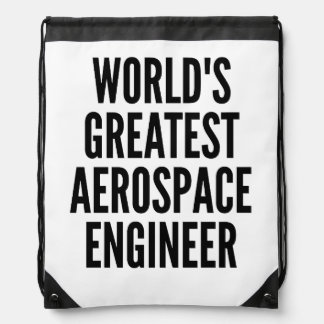 Worlds Greatest Aerospace Engineer Drawstring Bag