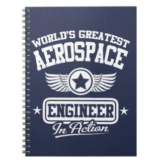 World's Greatest Aerospace Engineer Spiral Note Book