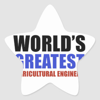 World's greatest Agriculture engineer Star Sticker