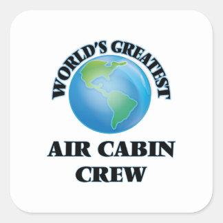 World's Greatest Air Cabin Crew Square Stickers