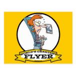 WORLDS GREATEST AIRPLANE FLYER WOMEN CARTOON POSTCARDS