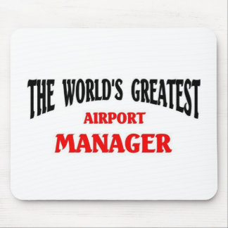 World's Greatest Airport Manager Mouse Mat