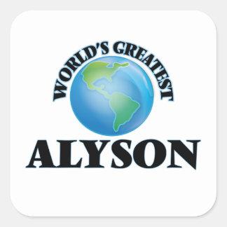 World's Greatest Alyson Square Stickers