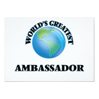 World's Greatest Ambassador 13 Cm X 18 Cm Invitation Card