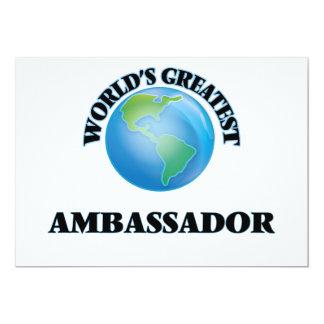 "World's Greatest Ambassador 5"" X 7"" Invitation Card"