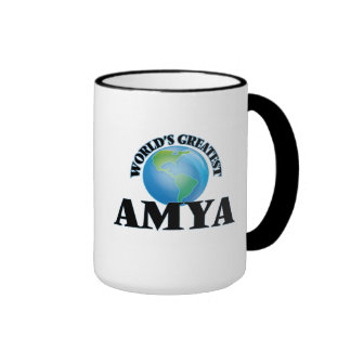 World's Greatest Amya Ringer Coffee Mug
