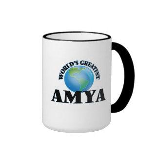 World's Greatest Amya Ringer Mug