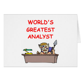 world's greatest analyst greeting card