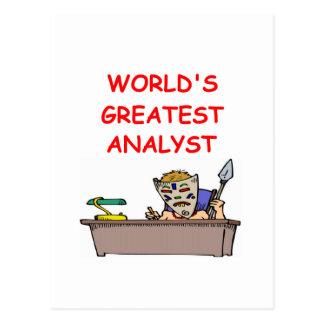 world's greatest analyst postcard